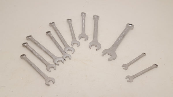 6 - 19mm Am-Tech Combination Wrench Set 11 Pc Oroginal Box VGC 18929-The Vintage Tool Shop