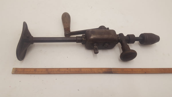 "Interesting Small Shoulder Brace Drill with Dual Speed Gearbox 14 1/2"" 19199-The Vintage Tool Shop"