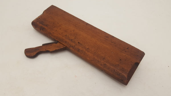 "Early Antique Moulding Plane 9 3/4"" Long Marked TE & R Smith Treated Worm 19328-The Vintage Tool Shop"