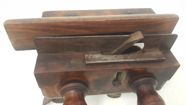 Stunning Ornate Antique Jon Cox Screw Stem Plough Plane Tool 19271-The Vintage Tool Shop