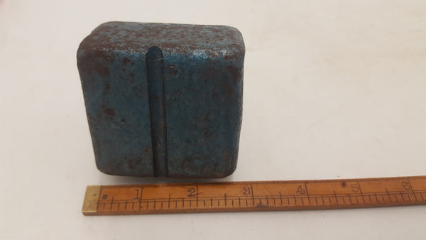 "3lb 3oz Vintage Bottom Swage 2.5x2.5x1.25"" Blacksmithing Tool 20414"