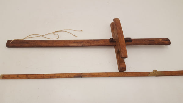 "Large Vintage 21"" Wooden Marking Gauge 20602"