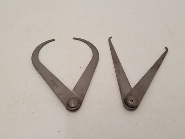 "Pair of Moore & Wright 5.5"" Outside Calipers 20685"