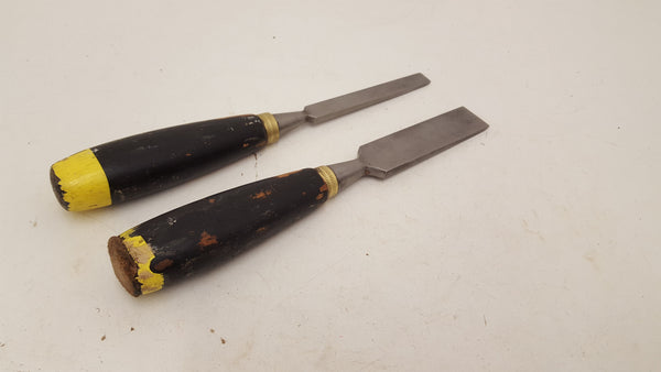 "Pair of Unnamed Straight Chisels 1/2 - 1"" 21331"
