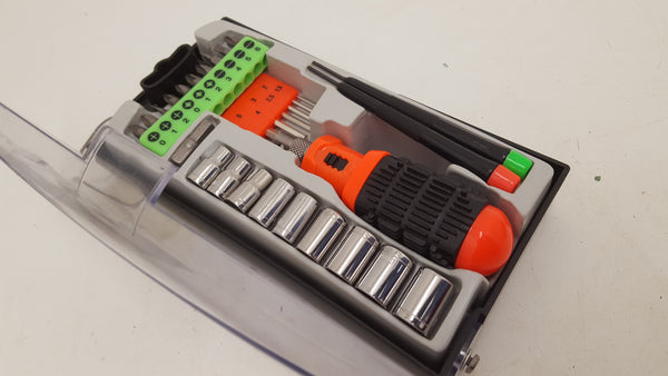 30pc Multi-Purpose Tool Set w broken case 21343