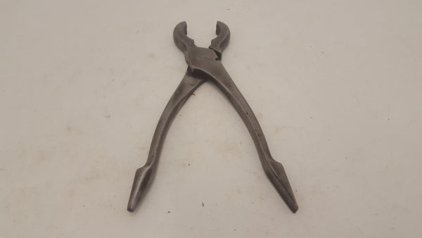 "C10"" Vintage Gas Pliers c/w Reamer & Turnscrew Ends 21814"