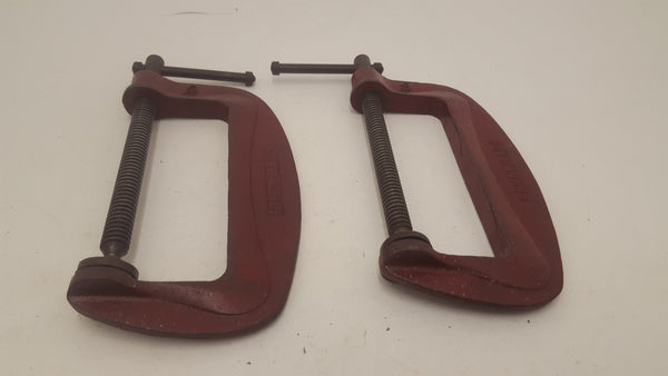 "Pair of Vintage Dronfield 6"" Clamps 21484"