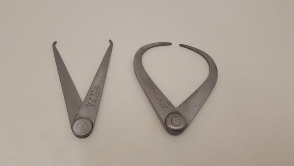 "Pair of Vintage Steel Outside Calipers 4 1/2"" 22157"