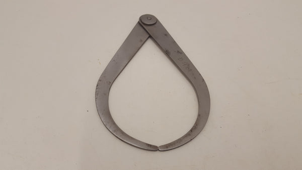 "Vintage 6 1/2"" Plumpton Steel Outside Caliper 22257"
