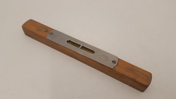 "8"" Vintage Steel & Wood Spirit Level 22197"