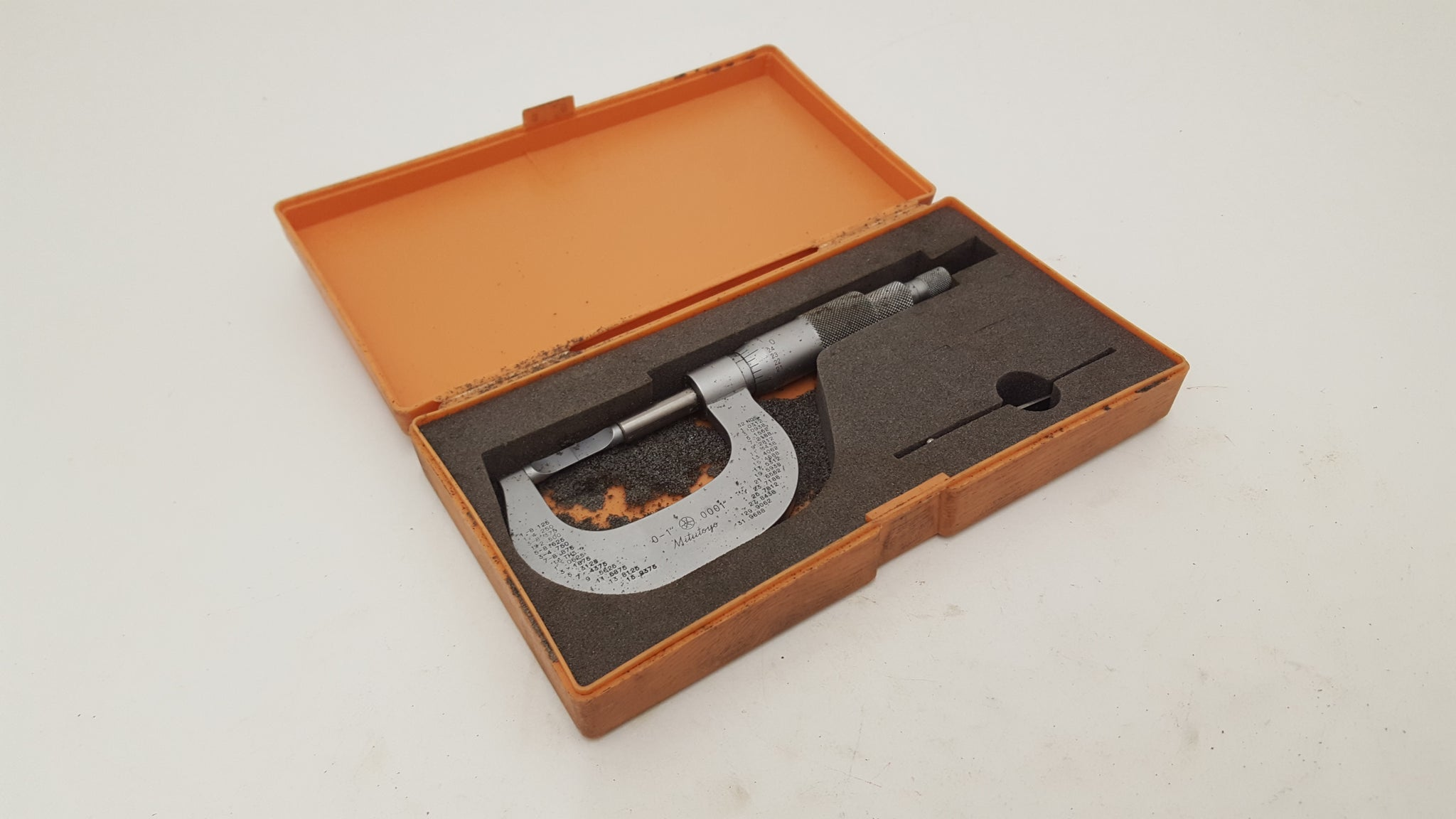 Stunning Mitutoyo 122 - 125 Micrometer Boxed w Instructions & Certificate of Acc