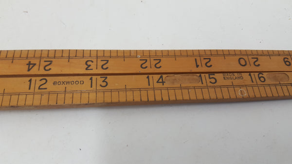 "Vintage 36"" Boxwood Folding Rule w Name Removed 23004"