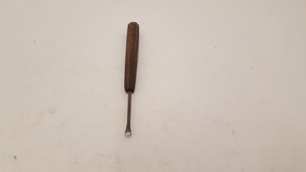 "Vintage 1/4"" Fishtail Gouge w #4 Sweep 23268"