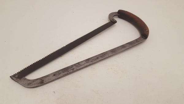"Unusual 12"" Vintage Hacksaw Saw w Wooden Handle 7 TPI 23789"