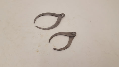 "Pair of Unnamed Vintage Outside Calipers 4 & 3"" 23851"