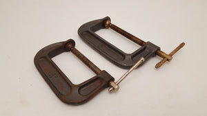 "Pair of Vintage Olympia G Clamps 4 & 5"" 24377"