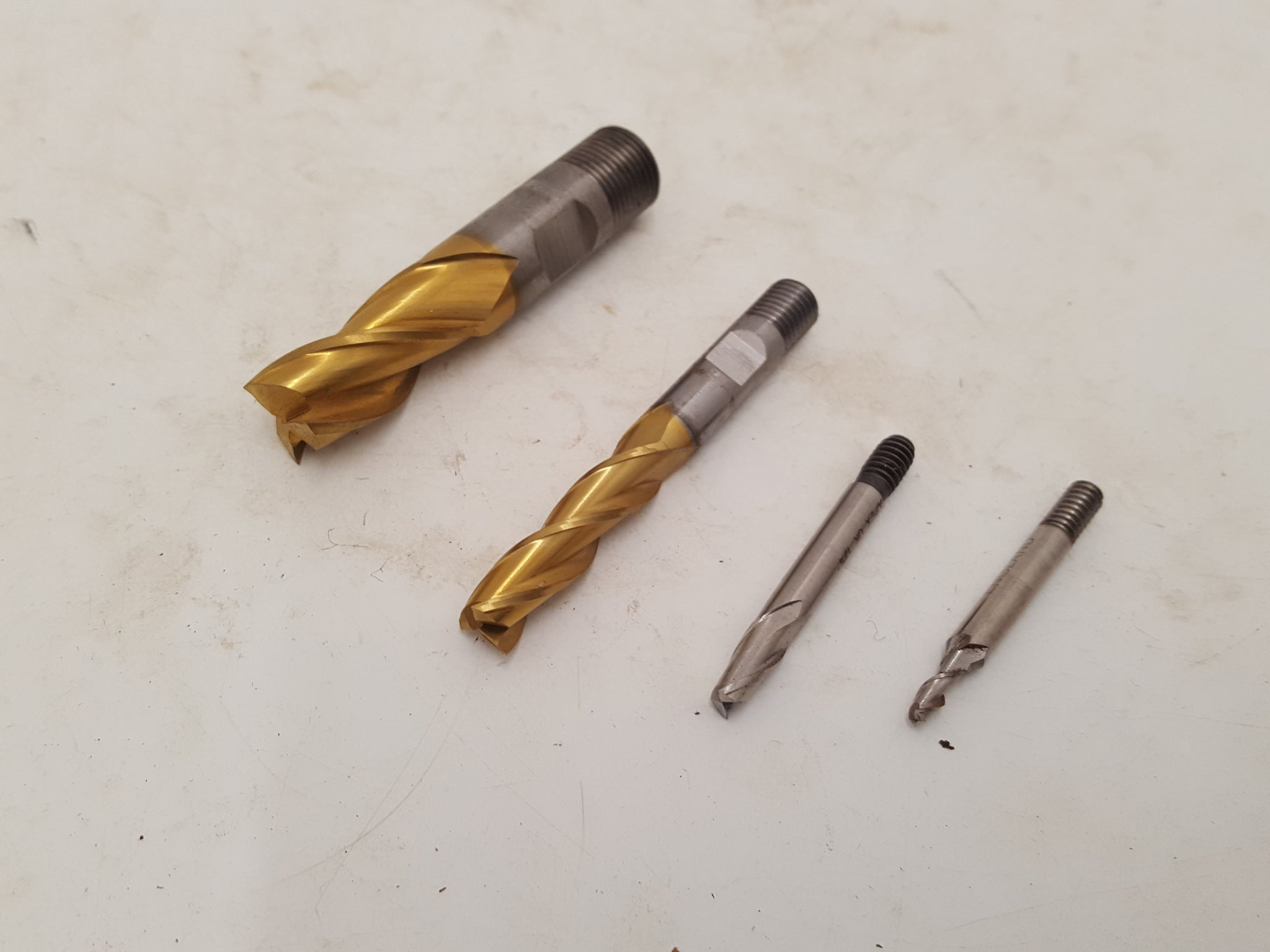 Mixed Bundle of 4 Slot Drill Bits Screwed Shank 24432