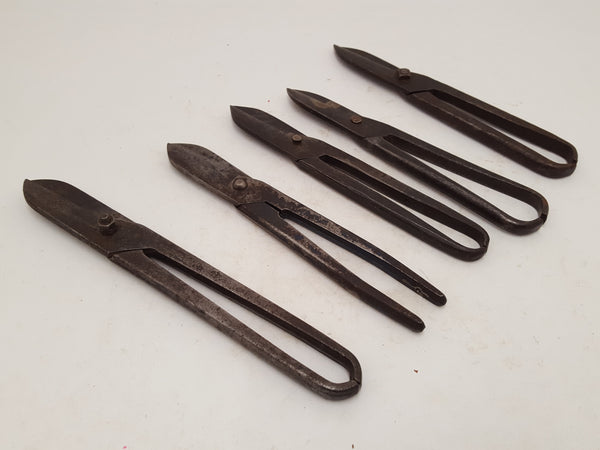 Bundle of 5 Vintage Heavy Duty Tin Snips 24505