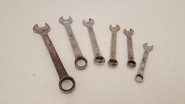 "Set of India Drop Forged Spanners 3/8 - 11/16"" 25036"