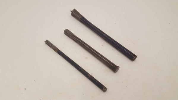 "Set of 3 Vintage Rawlplug Chisels 3/8 - 3/4"" 25432"