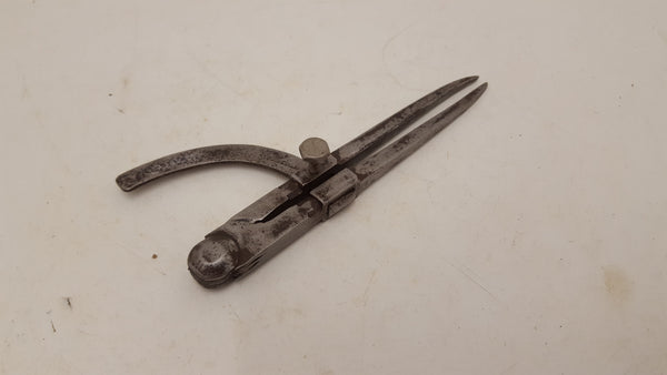 "7"" Vintage Iron Compass Divider w Swing Arm 25867"