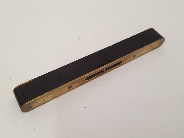 Incredible Vintage E Preston Brass & Ebony Spirit Level 26110