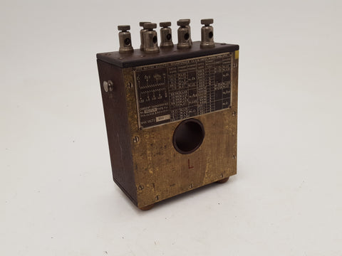 Antique 'The British Electric Transformer Co' Brass Device Volts 660 26630