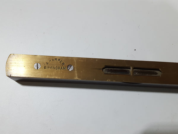 "8"" A Harper Vintage Brass & Wood Spirit Level 27528"