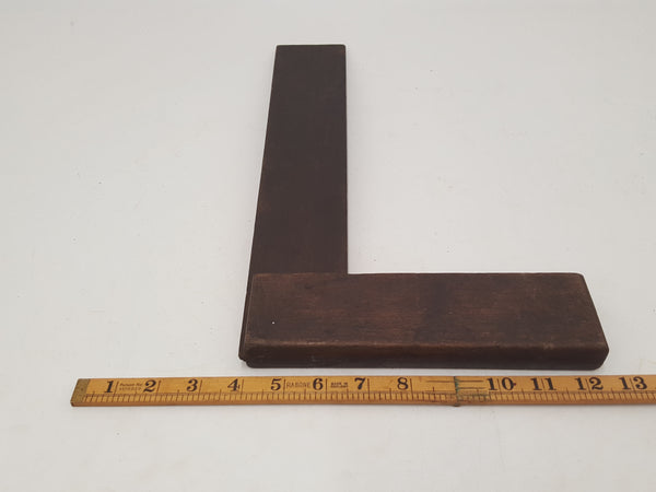 "Large 12"" Vintage Wooden Try Square 29232"