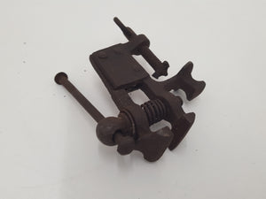 "Tiny 1 1/8"" Vintage Vice w Table Clamp & Small Anvil 29285"