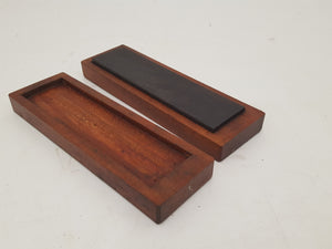 "Lovely 8 x 2"" Vintage Yellow Lake Oil Sharpening Stone in Box 29522"