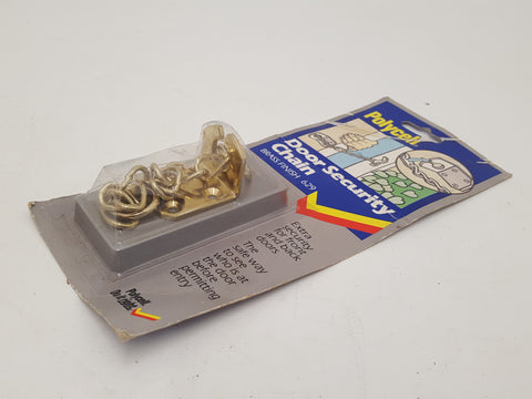 NOS Polycell Door Chain Brass Finish 29562