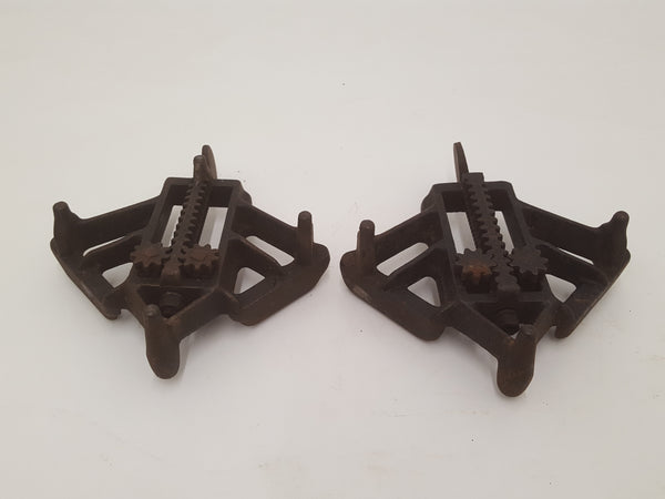 Beautiful Pair of Small Antique Mitre Clamps 29629