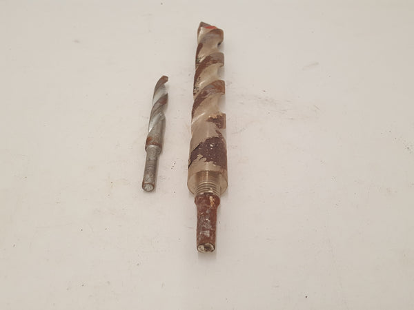 "Mixed Pair of Large Stone Drill Bits 5/8 & 1 1/4"" in Box 30227"