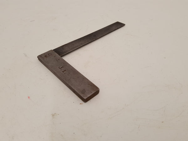 "4 1/4"" Small Vintage Steel Try Square 30347"