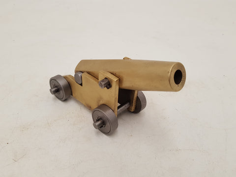 Gorgeous Small Vintage Brass & Steel Model Cannon 31344