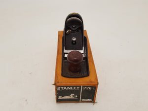 Very Nice Vintage Stanley No 220 Block Plane in Original Box 31404