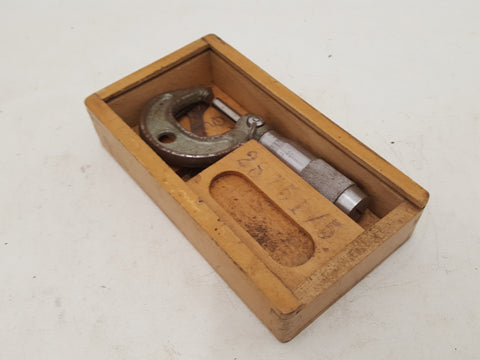 Small 0 - 24 Vintage Micrometer in Wooden Box 31458