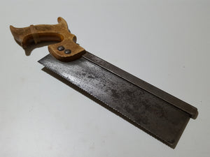 "Small 10"" Vintage Steel Back Saw w 14 TPI 32981"