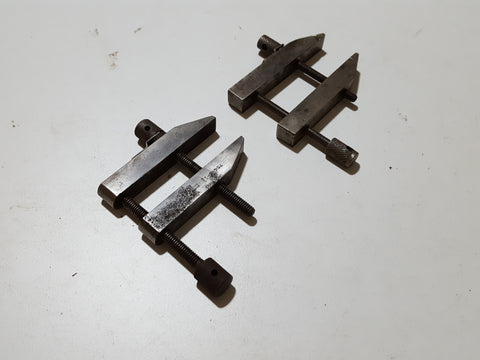 Mixed Pair of Small Engineers Steel Parallel Clamps 33016