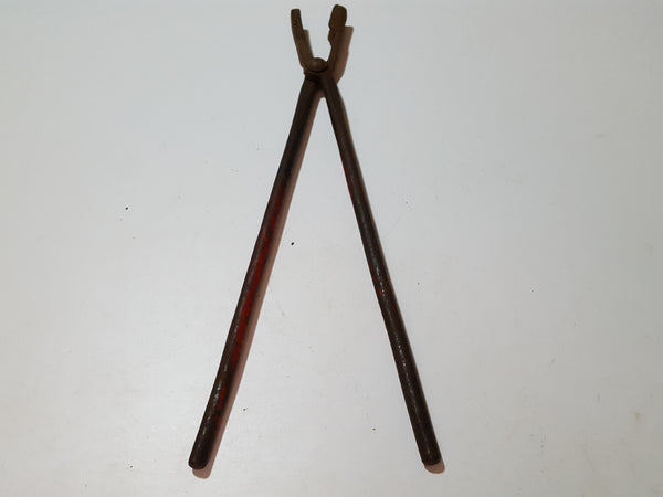 "18"" Vintage Square Mouth Blacksmith Tongs 33446"