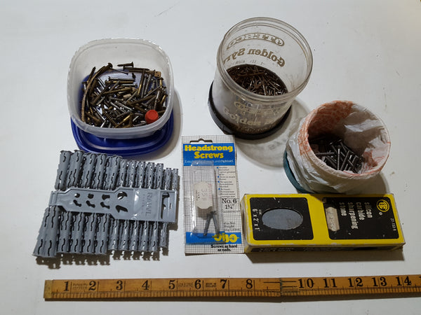 Job Lot of Misc. Hardware Screws, Rawlplugs etc. 33708