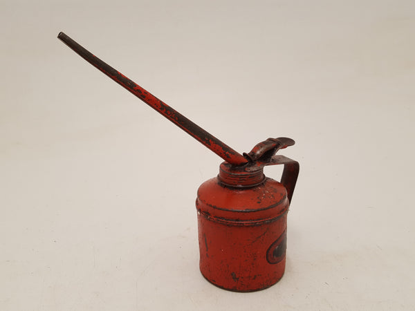"9"" Vintage Red Oil Can 34537"