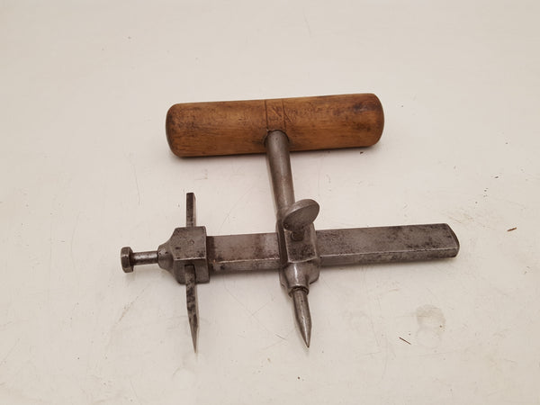 Vintage CK Hole Cutting Tool w Wooden Handle 34559