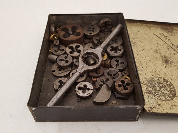 Mixed Job Lot of Dies Assorted Sizes & 1 Die Wrench 34705