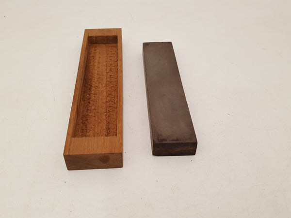 "8"" x 1 3/4"" x 7/8"" Combination Stone in Nice Wooden Box 34789"