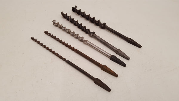 "Mixed Set of 5 Vintage Brace Bits 1/4"" - 3/4"" 35292"