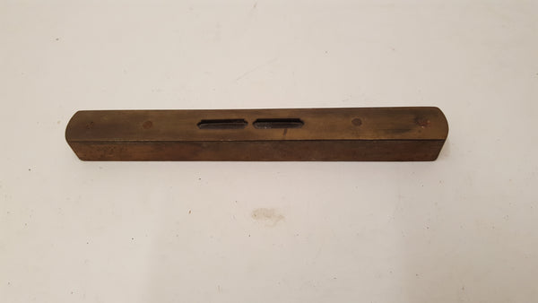 "8"" Vintage Hockley Abbey Brass & Wood Spirit Level 35359"