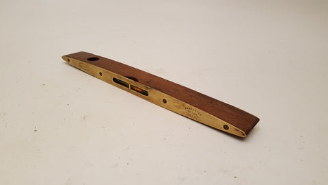 "Lovely 12"" Vintage J Rabone No 1626 Brass & Wood Spirit Level 35817"