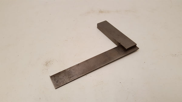 "Nice 4 1/8"" Vintage Moore & Wright Steel Engineers Set Square 35713"
